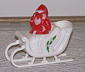 Santa In Sleigh Plastic Candy Container