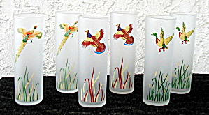 GAME BIRDS FROSTED GLASSES, SET OF 6 (Image1)