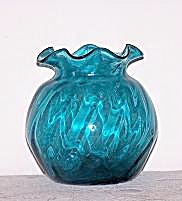Hand Blown Blue Glass Vase