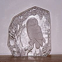 ENESCO CRYSTAL OWL PLAQUE (Image1)