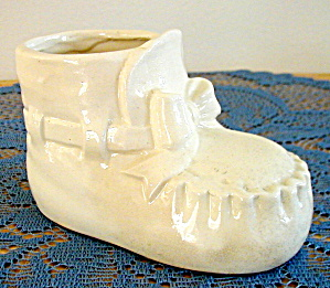 White Baby Bootie Planter