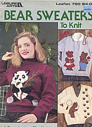 Bear Sweaters To Knit Leaflet