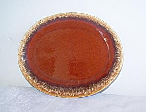 HULL BROWN DRIP Small Platter (Image1)