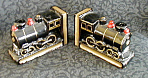 CERAMIC TRAIN BOOKENDS (Image1)