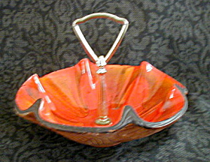 RED SEQUOIA WARE CANDY DISH (Image1)