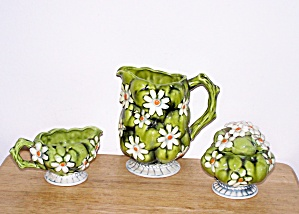 Inarco Daisy Sugar, Creamer & Pitcher Set, 1967