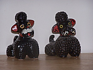 PAIR OF BLACK POODLES (Image1)