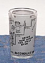 Alcoholics Unanimous Measuring Glass
