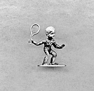 Spoontiques Pewter Boy With Tennis Racket
