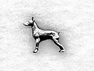 PEWTER Standing GREAT DANE (Image1)