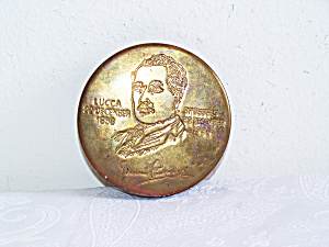 Etched Giacomo Puccini On Mottaheded Brass Box