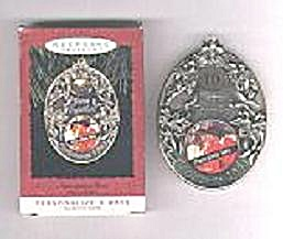 Hallmark Anniv. Year Photoholder Christmas Ornam, 1993