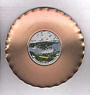 COPPER W/TILE NIAGARA FALLS SOUVENIR PLATE (Image1)
