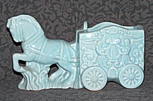 PRANCING HORSE PULLING CART PLANTER (Image1)