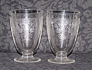 2 Florentine Juice Glasses