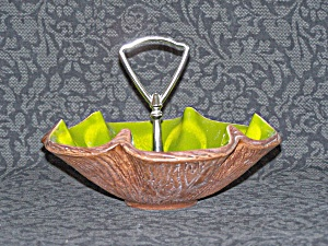Avocado Green Sequoia Ware Candy Dish