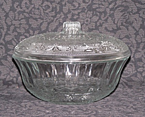 CLEAR GLASS CANDY DISH WITH LID (Image1)