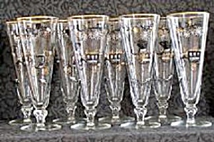 SET OF 8 OLD AUTOS PILSNER GLASSES (Image1)