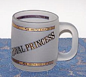 PRINCESS CRUISES FROSTED GLASS MUG (Image1)