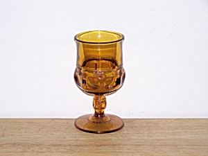 Kings Crown Amber Water Goblet