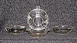 4 CLEAR GLASS CANDY DISHES (Image1)