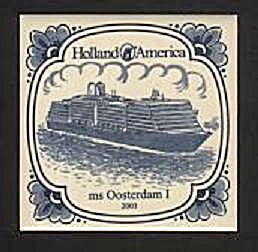 HOLLAND AMERICA LINE, 2003 BLUE ON WHITE TILE (Image1)