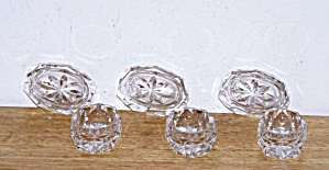 SET OF 6 GLASS SALT CELLARS (Image1)
