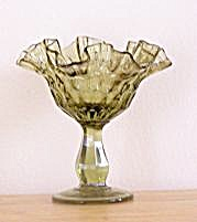 GREEN GLASS COMPOTE (Image1)