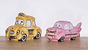 Taxi Cab & Pink Car Shakers