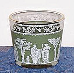 Green & White Grecian People Ice Bucket