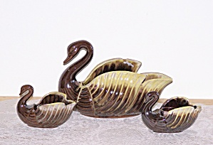 SWAN PLANTER & CANDLE HOLDERS CONSOLE SET (Image1)