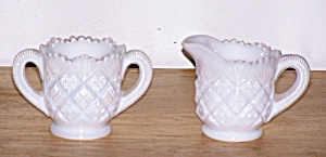 Child's Milk Glass Cream & Sugar Set