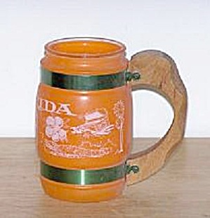 ORANGE GLASS FLORIDA SOUVENIR MUG (Image1)