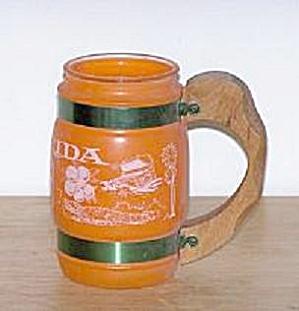 ORANGE GLASS FLORIDA SOUVENIR MUG (Image1)
