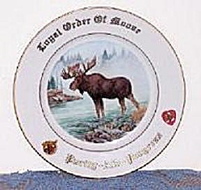 LOYAL ORDER OF MOOSE LIMITED EDITION PLATE (Image1)