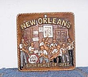 NEW ORLEANS, BIRTH PLACE OF JAZZ, PLAQUE (Image1)