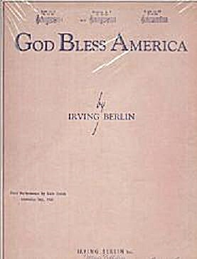 GOD BLESS AMERICA SHEET MUSIC (Image1)