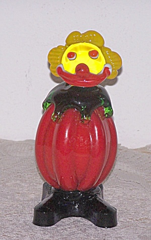 CASED GLASS CLOWN FIGURE (Image1)