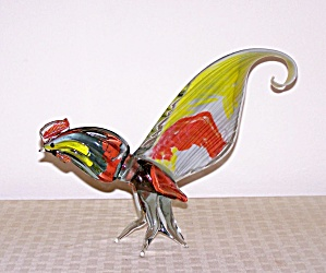 CASED GLASS WHIMSICAL BIRD (Image1)