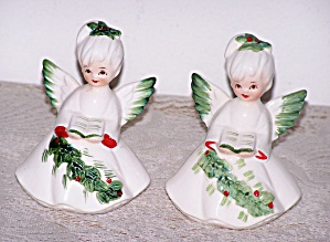 LEFTON PAIR OF ANGELS & SONG BOOKS (Image1)