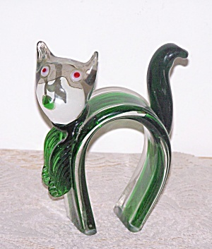 Cased Glass Arch Back Cat