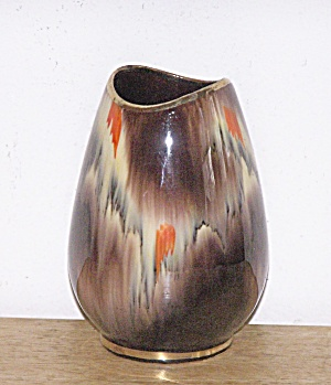 GERMANY BROWN SHORT VASE (Image1)