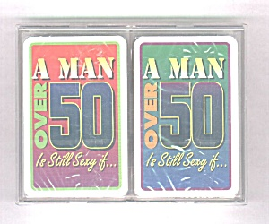 A MAN OVER 50 IS STILL SEXY IF�DOUBLE DECK PLAYING CARD (Image1)