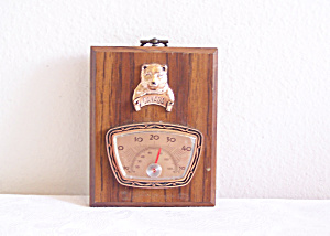 Wooden Look Plaque A & F Canada Thermometer