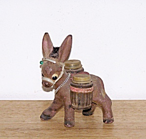 BROWN FLOCKED DONKEY CARRYING SHAKERS (Image1)