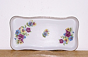 Vanity Tray With Pansies