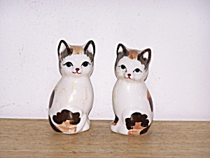 Pair Of Cats Salt & Pepper Shakers