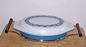 Divided Casserole, Lid And Cradle, 1 ½ Qt.