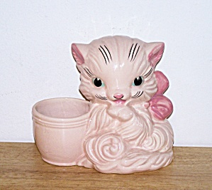 HULL PINK CAT PLANTER (Image1)