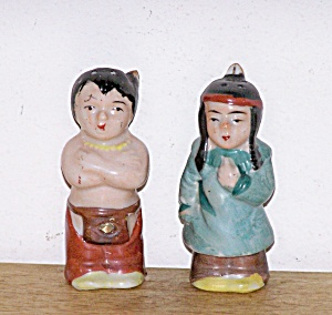 Pair Of Indians Shakers